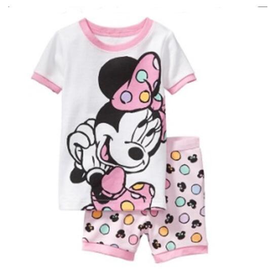 3e19b8e6b Baby Kids Pajamas Set Summer Children Short Sleeve Cotton Sleepwear ...