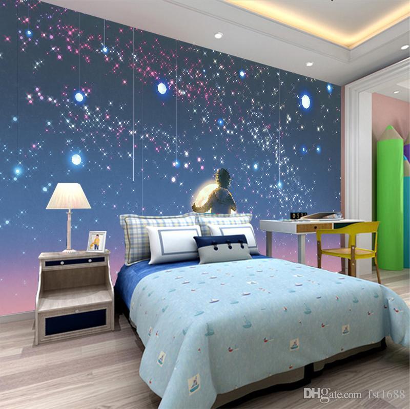 Blue Dream Cielo Stellato Costo.Acquista Personalizzato 3d Wallpaper Foto La Camera Dei Bambini