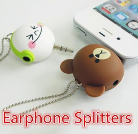 2018 Мини симпатичные 3.5 мм двойной разъем адаптера для наушников для Samsung для iPhone 5 6 6 S MP3-плеер Splitter адаптер от cardmate