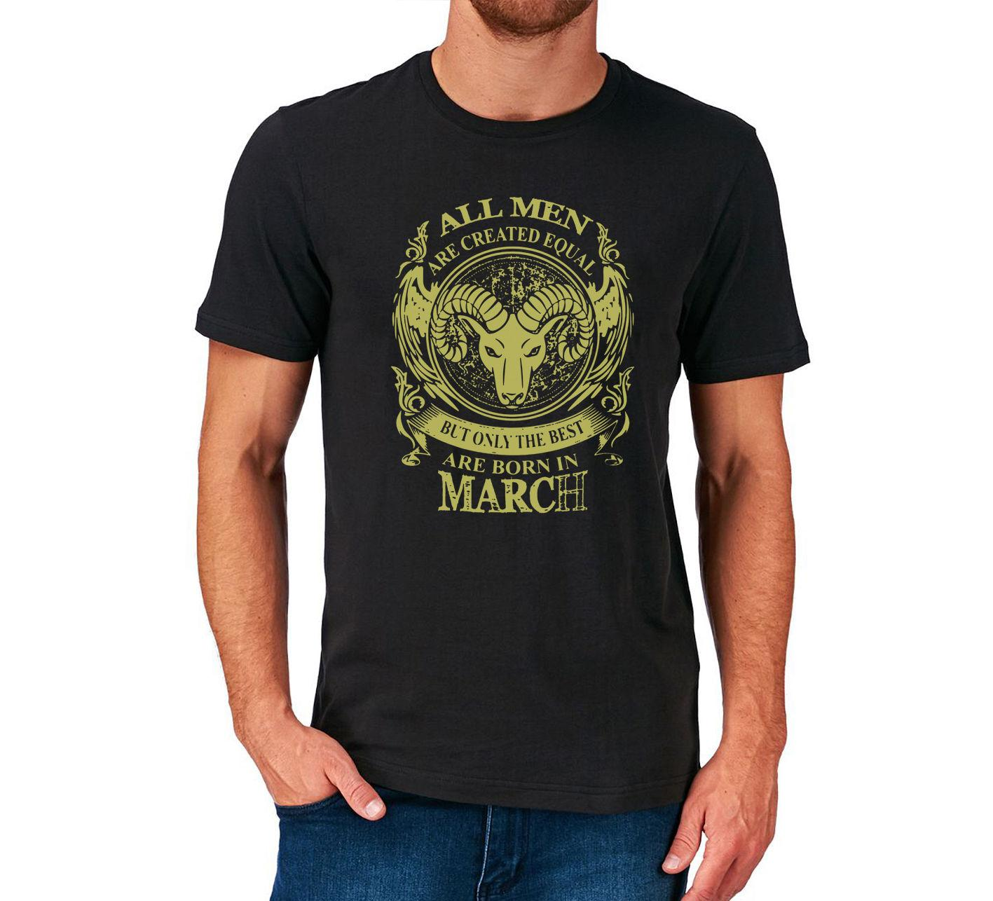 BIRTHDAY T SHIRT MARCH ARIES PRESENT GIFT STAR SIGN ZODIAC Cool Casual Pride Shirt Men Unisex New Fashion Tshirt Designer From Cls6688522