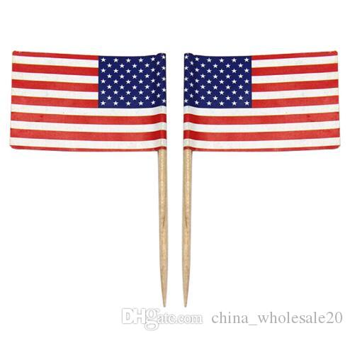 mini american flag polyester usa flag independence day banner