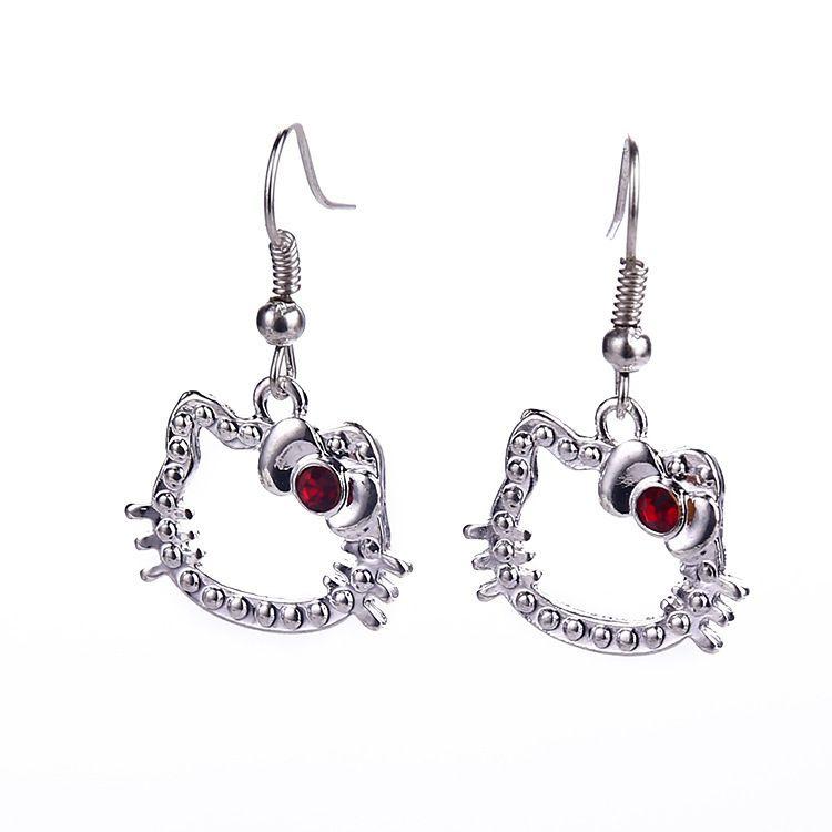1d5f1cc40 Hello Kitty Earrings/high Quality Earrings, European And American ...