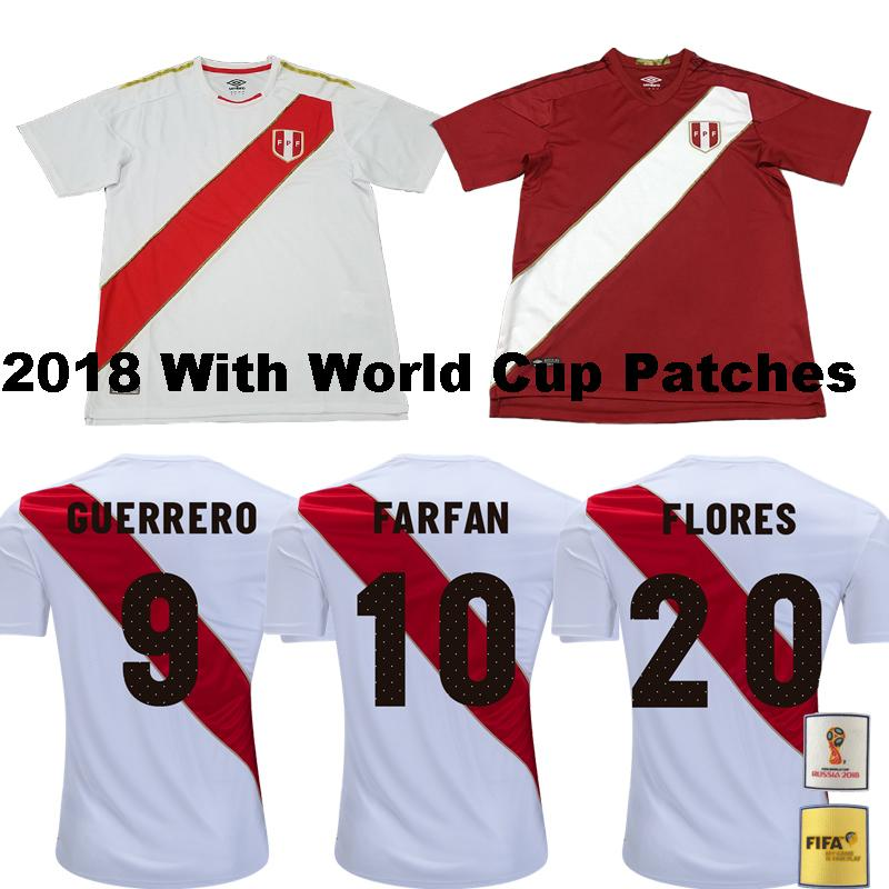 2018 World Cup GUERRERO National Home Soccer Jerseys Peru CHRISTIAN ... d10d24caf