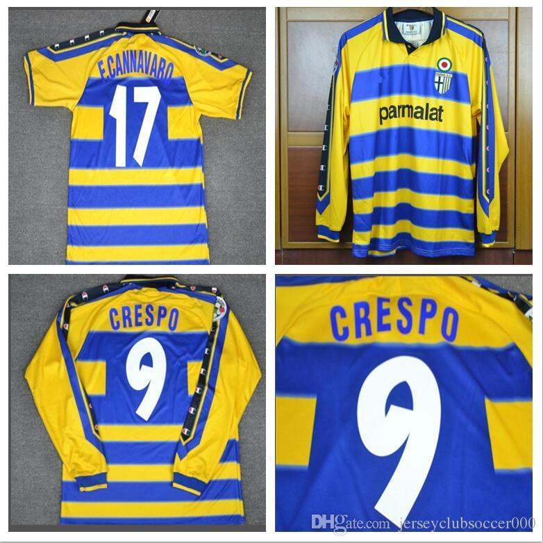 013ee0d8731a 2019 99 00 Parma Crespo Cannavaro Italia Retro Soccer Jerseys Short Long  Sleeve Football Shirts 1999 2000 Camiseta Camisa From Jerseyclubsoccer000,  ...