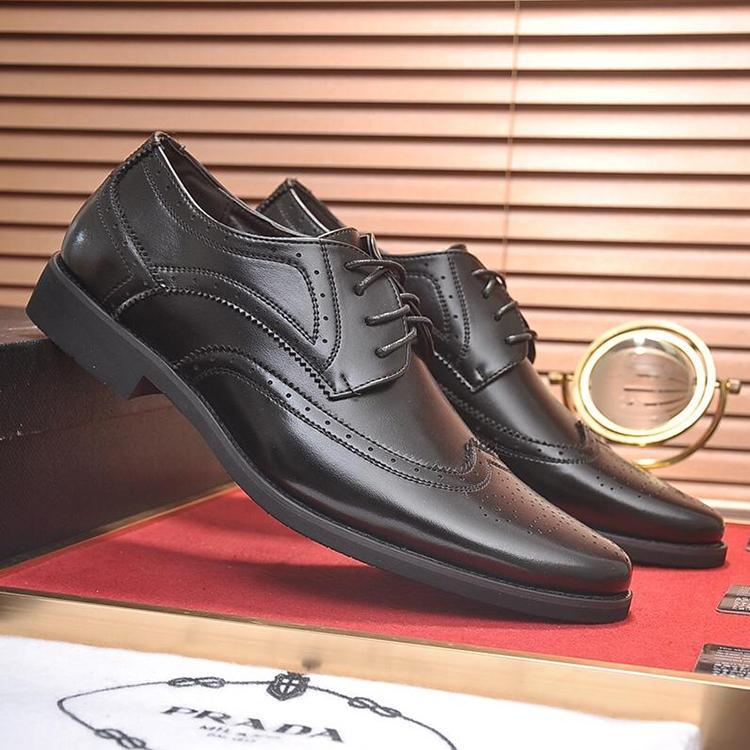 Compre Zapatos Formales De Vestir Para Hombres PRA Oficina Pisos Negocio  Calzados Italia Tendencia Lujo Lujo Cuero Casual Cordones De Trabajo Estilo  Zapatos ... 44db03ed6b4