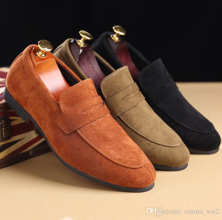 Acquista Scarpe Da Uomo Mocassini Mocassini Slip On Casual Business Scarpe  In Pelle Scamosciata Uomo Pantofole Matrimonio Scarpe Da Uomo A  30.16 Dal  ... fd32c45a107