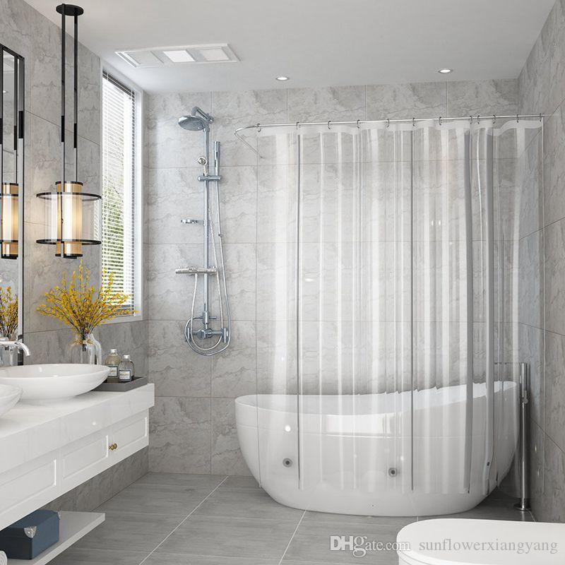 2018 Shower Curtain Waterproof For Home Hotel Crystal Clear Bathroom