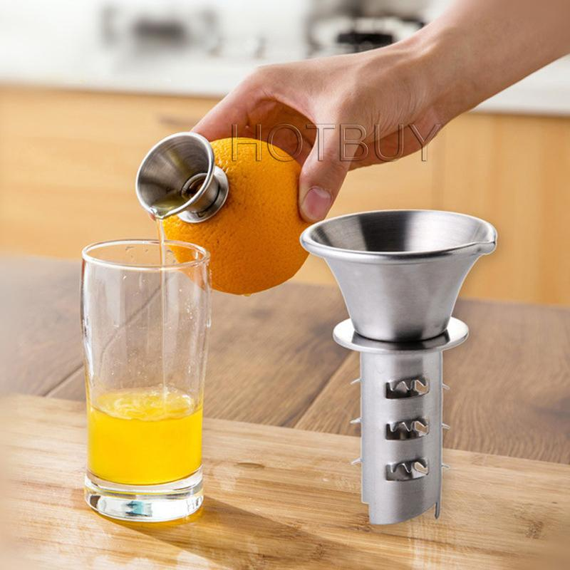 Stainless Steel Fruit Vegetable Tools Lemon Juicer Manually Squeezers Pourer Screw Press Orange Fruit Vegetable Juicer Tool #4650