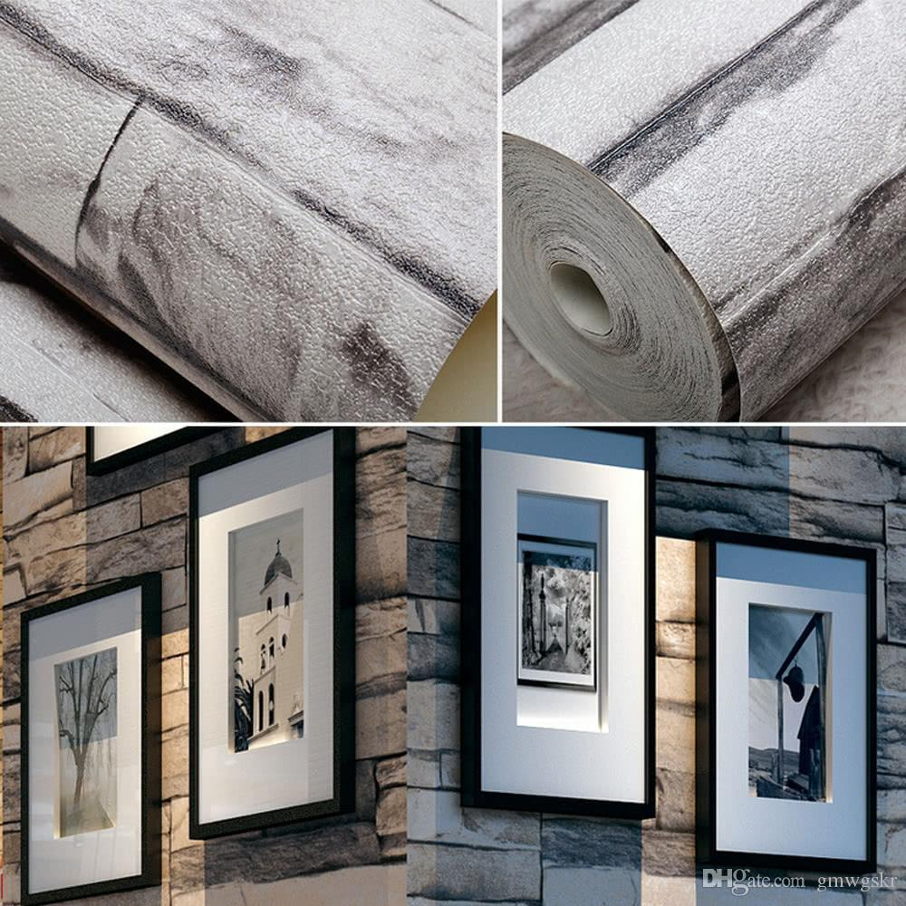 Vivid 3d vintage faux stone brick wallpaper removable brick wall pattern wallpaper room decoration background 0 53m10m online with 30 61 piece on