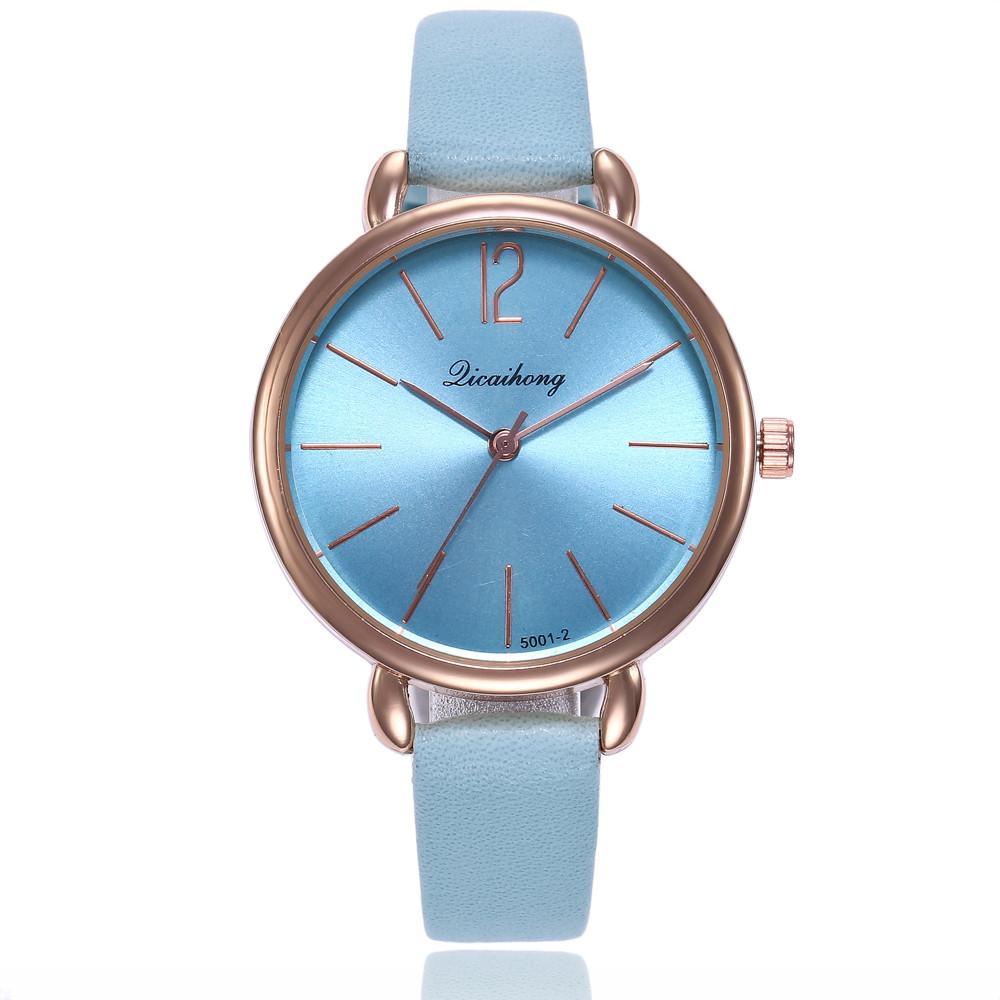 Compre Las Mujeres Ven Banda De Cuero Reloj De Pulsera De Cuarzo Analógico  Redondo Relojes Pulsera De Marca De Lujo Reloj Para Mujer Relojes Para Mujer  A ... 2c67056e9721