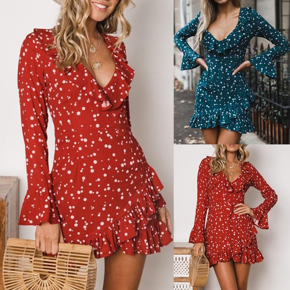 65c5af848bc9 Long Sleeve Floral Print Mini Dress - raveitsafe