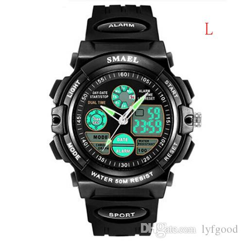 1bd626f3cbf Compre Relógio Infantil Relógio Eletrônico À Prova D água Masculino  Luminoso E Estudantes Da Escola Inteligente Multifuncional Relógio  Esportivo De Lyfgood