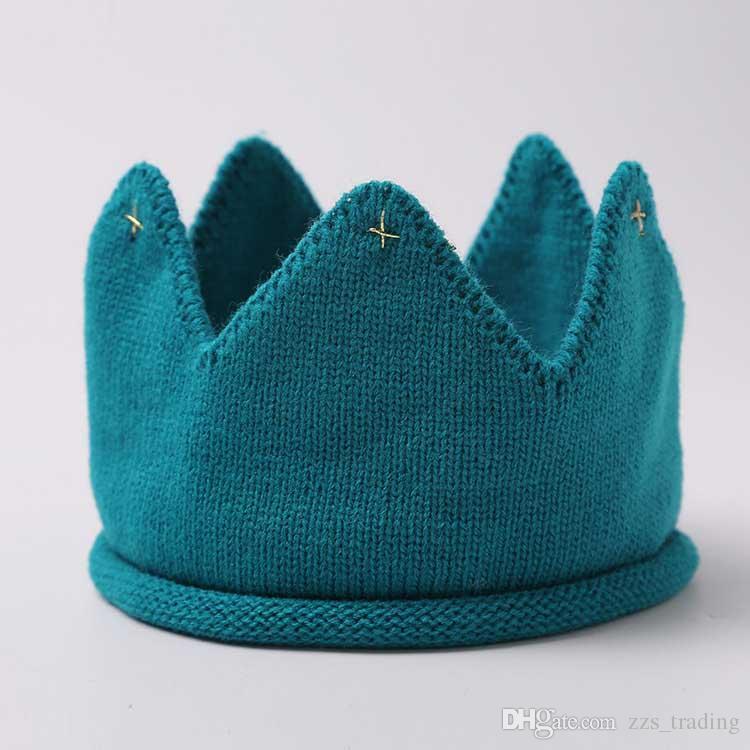 Stilvolle neue Krone gestrickte Baby Mütze Set Kopfkappe im Herbst und Winter neue Kinder Baby Mütze Hut für Babymütze