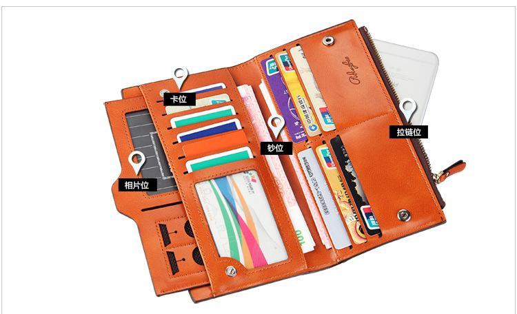 Nouvelle arrivée en cuir femmes portefeuilles Lady sac de messager conception bourse de changement de portefeuille pour les portefeuilles Lady NSP836-3