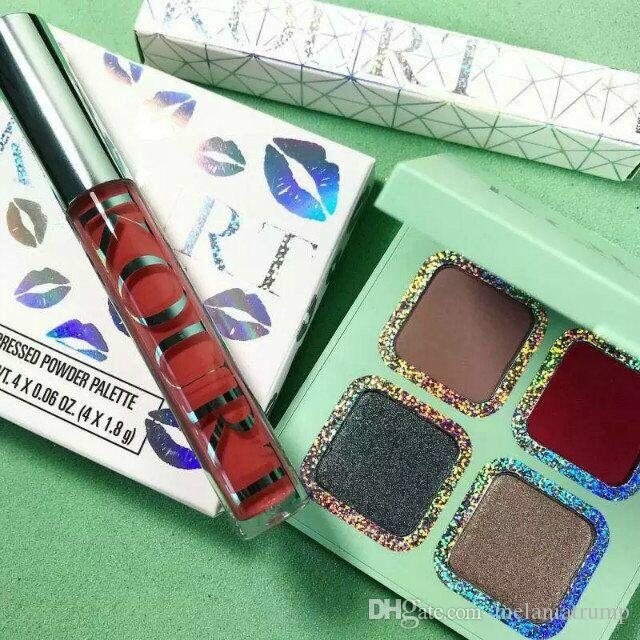 New Pressed Powder Eyeshadow Palette x Kourt Makeup Eye Shadow 3 Edition Pink/Green/Blue and Good Quality DHL