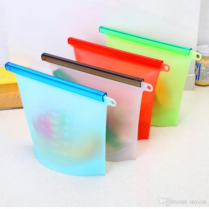 homw kitchen silicone food savers fridge food fresh storage bags