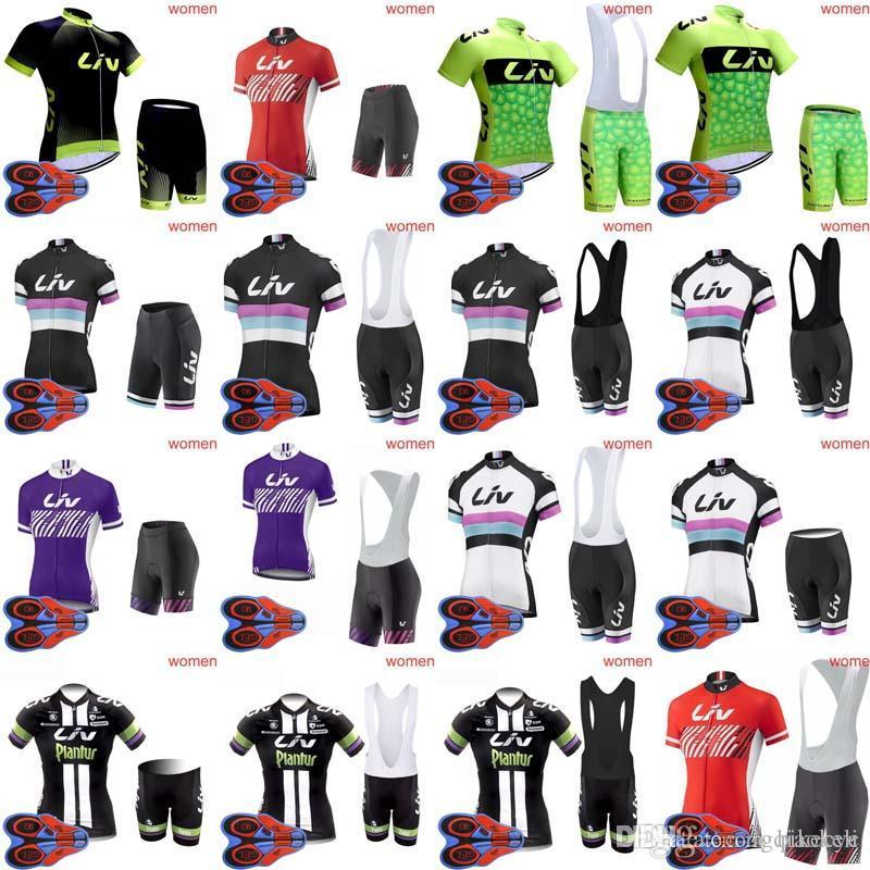 2018 New Hot Pro Team LIV Women Cycling Clothing Short Sleeve Top ... 684a6a3a5