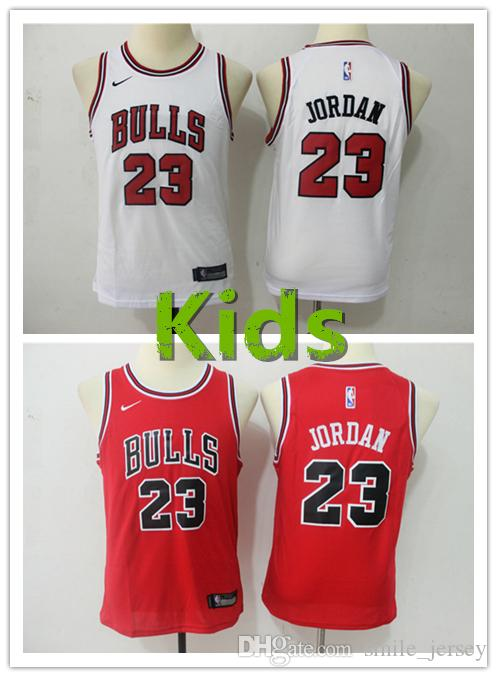 san francisco fa597 19602 2019 New Youth 23 Michael MJ Chicago Jersey Bulls Kids Basketball Jersey  Stitched Embroidery Mesh Dense AU Bulls Michael MJ Boys Jersey