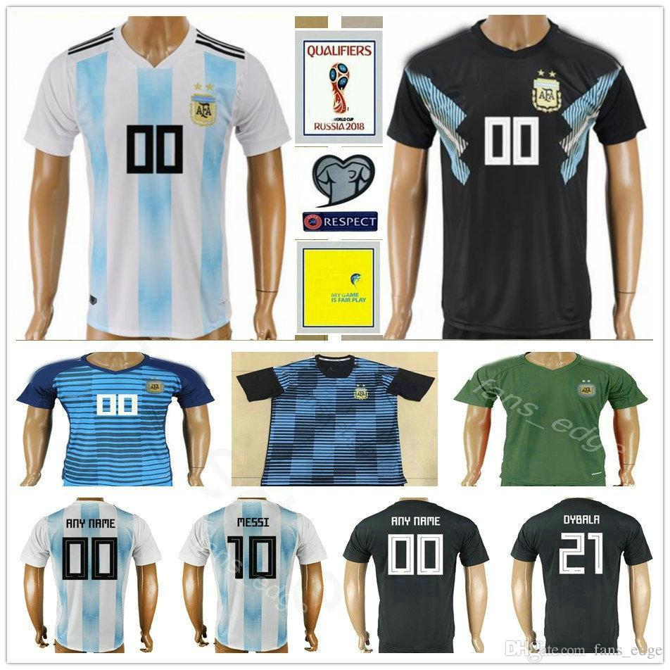 d377a2139c Compre 18 19 Argentina Camisa De Futebol Em Casa MESSI DI MARIA AGUERO  DYBALA MARADONA Qualidade Thai Argentina Camisas Futbol Camisas De Futebol  Frete ...