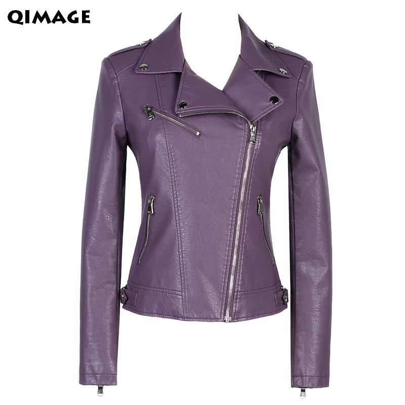 big sale 29419 357c0 2017 giacca di pelle manica corta moda per donna giacca di pelle giacca  corta da donna sottile design viola delle donne tuta sportiva