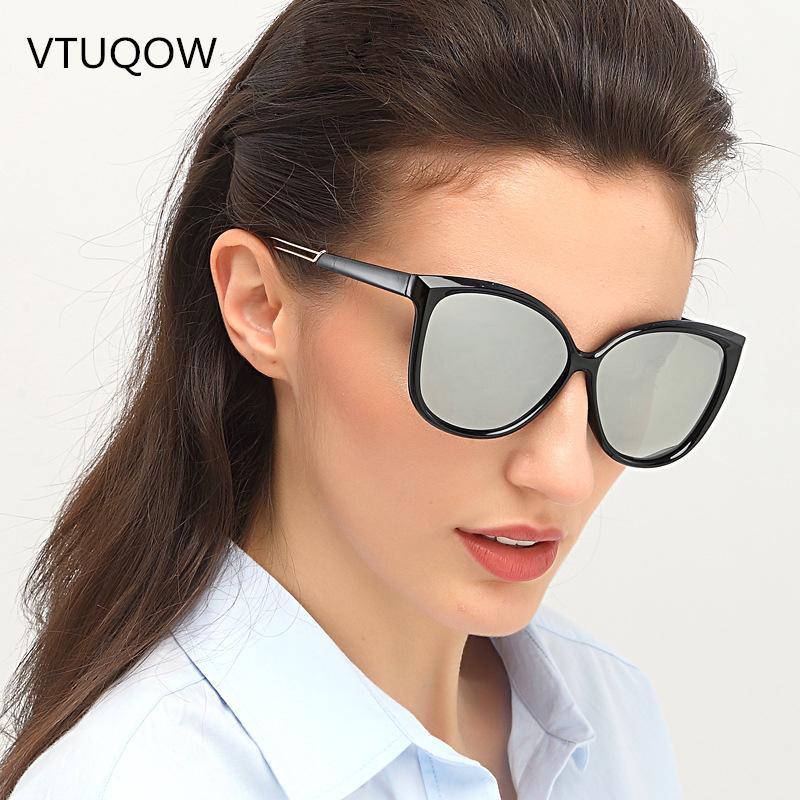 654d13b83f Compre 2019 Moda Mujeres Gafas De Sol Diseñador De La Marca De Color De  Lujo Ojo De Gato Gafas De Sol Mujeres Femeninas Elegantes Señoras Espejo  Sunglass ...