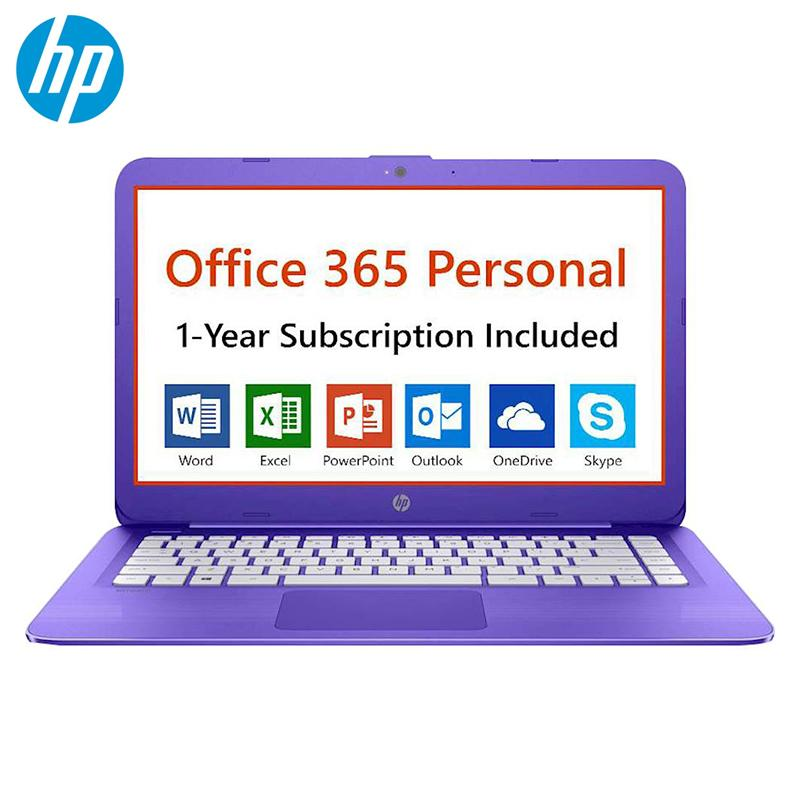 Stream 14 Inch Laptop Intel Celeron Processor 4GB Ram 32GB eMMC Flash  Memory Office 365 Personal 1-Year Included Purple Viole