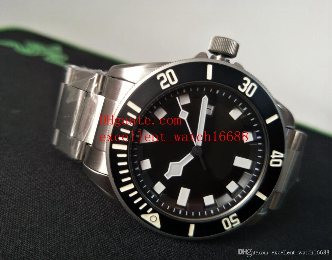 b0d1f864ae4c Compre Envío Gratis Moda Marca De Lujo Relojes 42 Mm 25600 De Acero  Inoxidable Cristal De Zafiro Negro Dial Automático Mechanicalexcellent Reloj  De Los ...