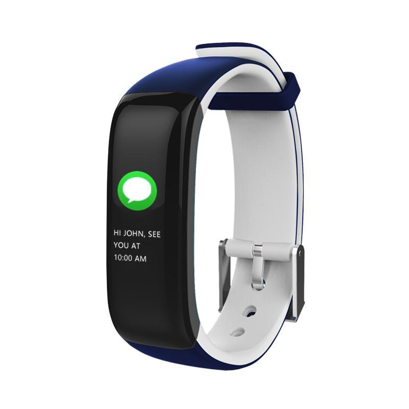 Spor Izci Izle Fitbit Bant Renkli Ekran P1 ARTı Renkli Dokunmatik Ekran ile Kalp Hızı Monitörü Kan Basıncı Uyku IP67 Su Geçirmez