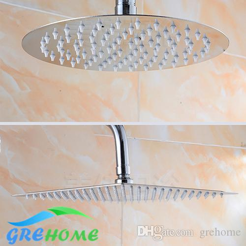 6 Inch 8 Inch 10 Inch Shower Head Square And Round 304 Stainless