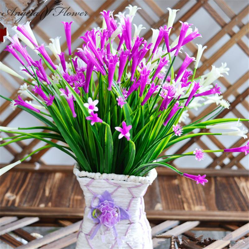 7 Branch Artificial Lily Flower Fake Flowers Aquatic Plants Home Decoration  Bedroom Accessory Wedding Flower Haif Flower Plastic Flower Decoration  Flower ...