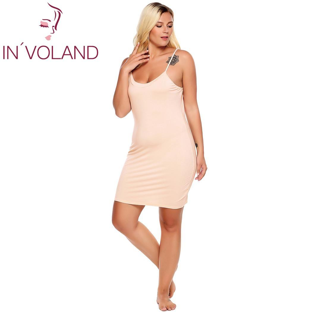 2019 IN VOLAND Plus Size Women Nightgown Sleepwear Dress Lounge Sexy  Adjustable Strap Solid Large Home Sleepshirts Nightwear Big Size From  Blueberry16 9001fa82a