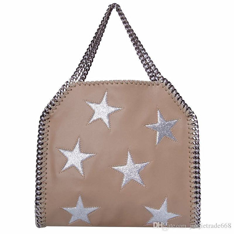 2018 Persionally new list shoulder diagonal chain bag with lo go st clutch fashion cross body bag two chains pvc material hangbag