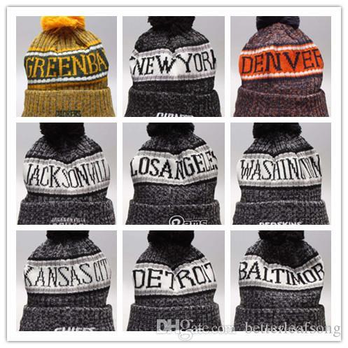 061f5960a14 Cheap Hot Winter Beanie Knitted Hats All 32 Teams Baseball Football ...