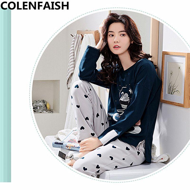 Autumn Long Sleeved Pajamas Set for Women Pijamas Mujer Sale New ... 649425913