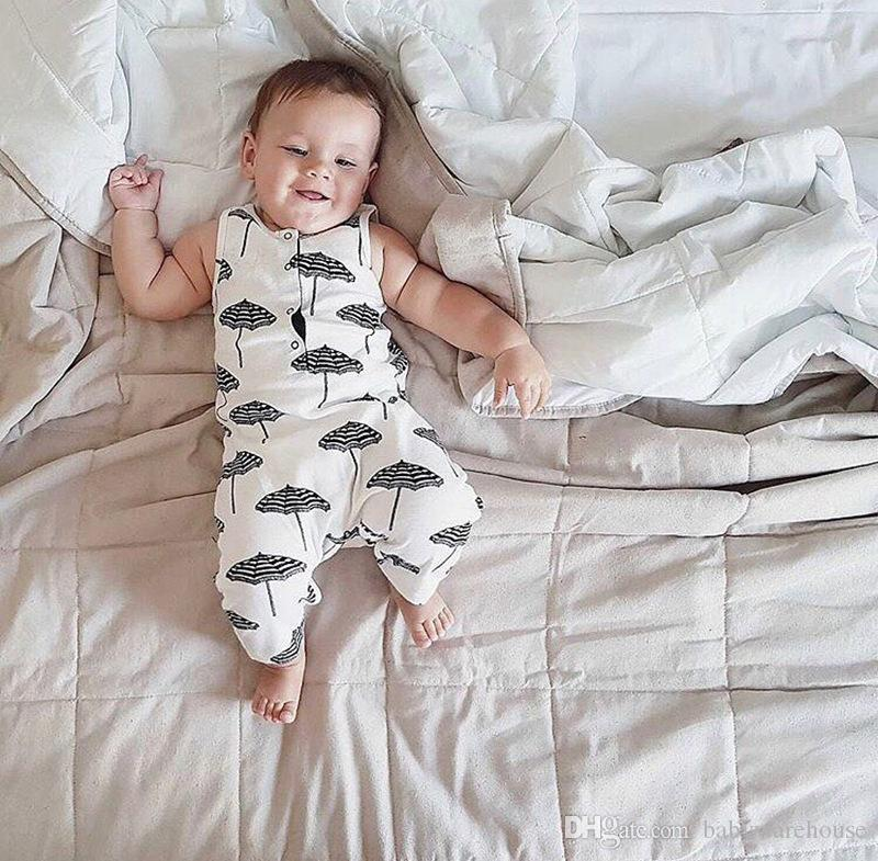Abbigliamento infantile del bambino 2018 Estate Neonato Abbigliamento Ombrello Stampa Abbigliamento bambini Neonato pagliaccetto Tuta Abiti Abbigliamento ragazze Tuta