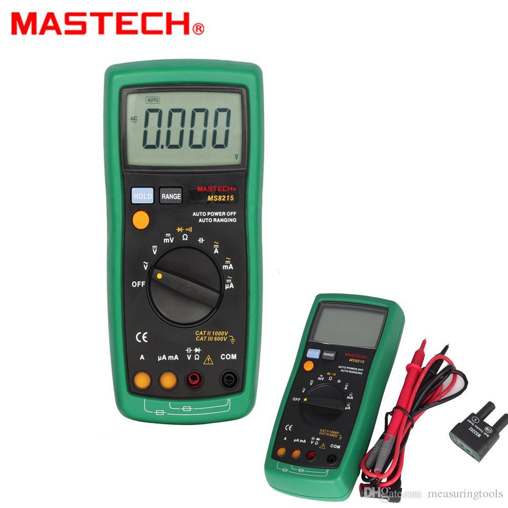 2019 Mastech Ms8215 Auto Range Digital Multimeter Dmm Ac Dc Circuit Tester Multitester Voltmeter Ammeter Ohmmeter Capacitor Megohmmeter