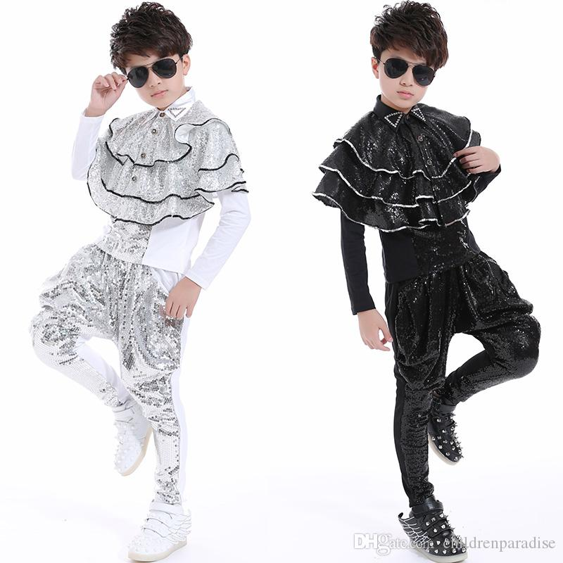 f1badbb6f0 2018 New Fashion Dance Wear Kids Boys Suit Stage Costume for ...