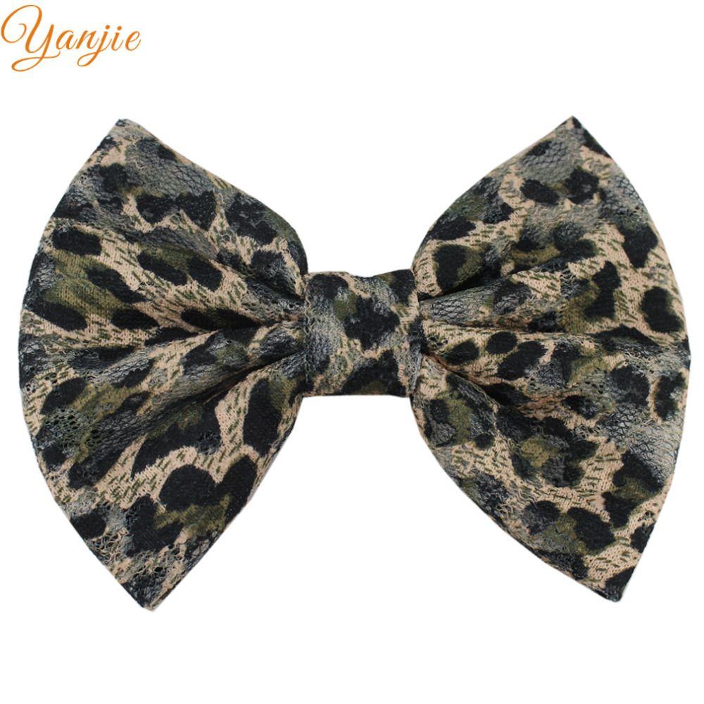 8 pçs / lote 5 '' Glitter Leopard impressão arcos de cabelo para meninas e crianças 2018 DIY Leopard Bow cabelo clipes Headband meninas acessórios para o cabelo