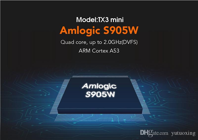 TX3 Mini android 8.1 tv box Amlogic S905W Media Player with LED Display 4K WiFi