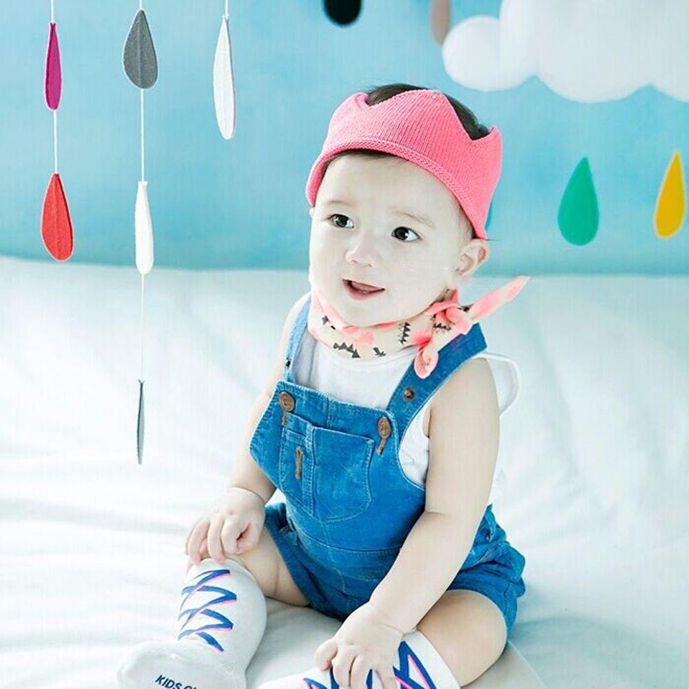 Vogue Neonato Neonati maschi Principessa Fascia capelli Crochet lavorato a maglia Regina King Crown Tiara Headwear Accessori capelli