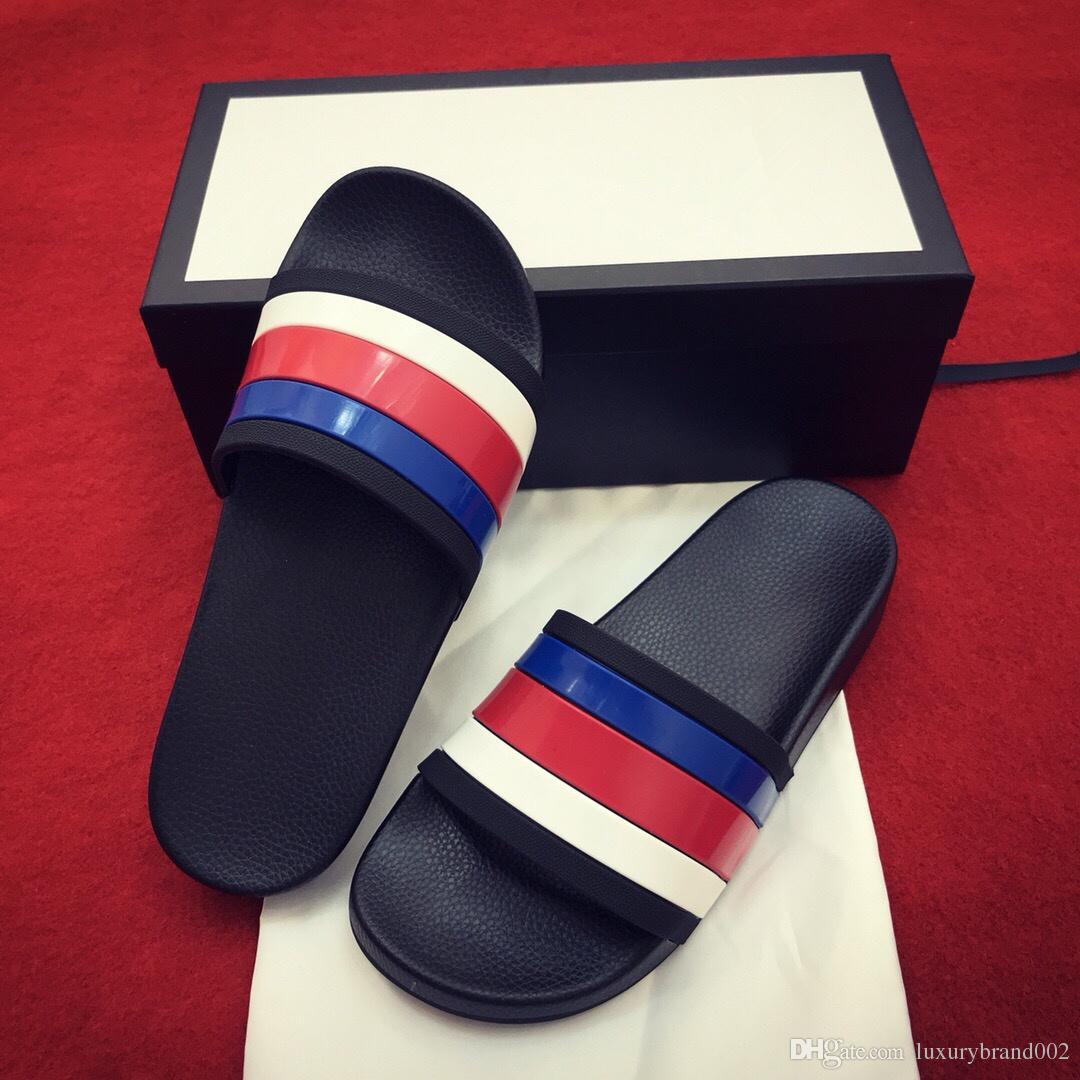 072fa62b242 New Brand Fashion Mens Striped Sandals Medusa Scuffs Causal Non-slip ...