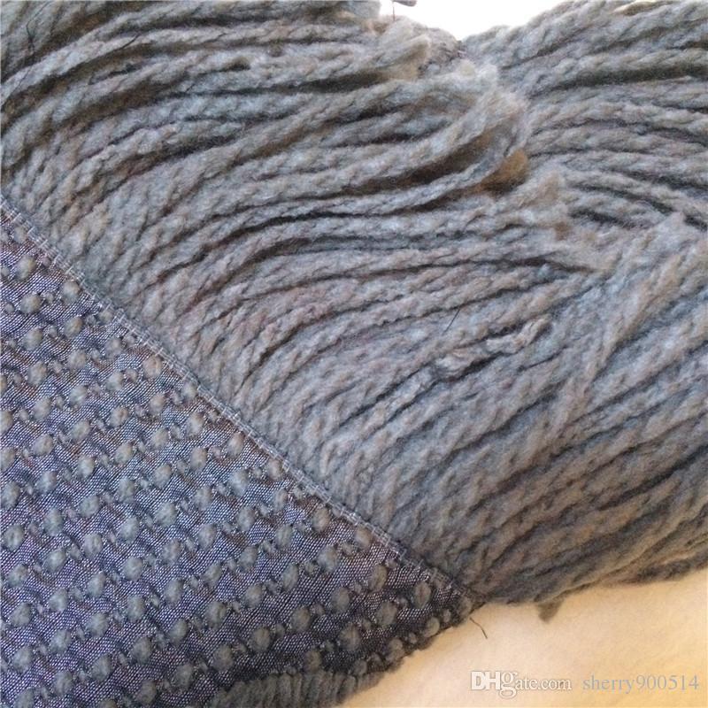 2018 Winter LOGOMANIA SHINE Marke Luxus Schal Frauen und Männer Zwei Seite Schwarz Rot Seide Wolldecke Schals Modedesigner Blume Schals