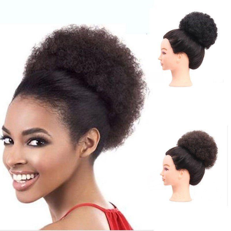 Sara Curly Hair Chignon Bun Hairpiece Elastic