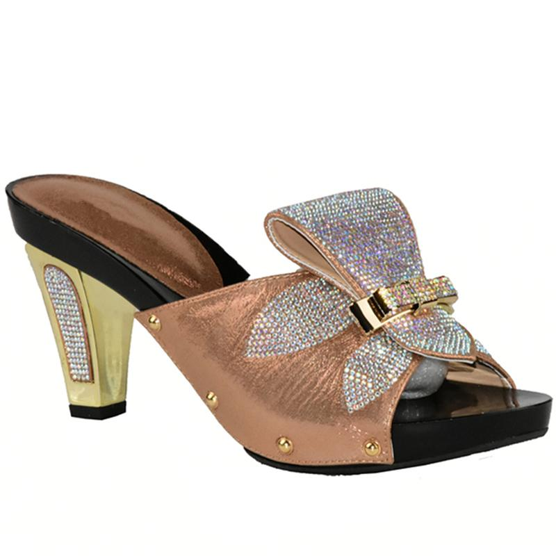 825e9a094743 Women African Wedding Shoes Woman Fashion Open Toe Ladies Pumps Women Shoes  Decorated With Rhinestone Slip On Shoes For Women Casual Shoes Women Shoes  From ...