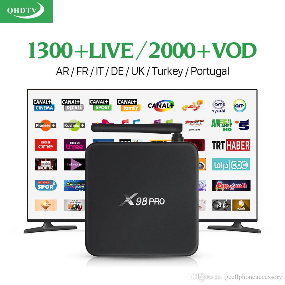 Dalletektv X98 PRO Android 6 0 IPTV Box IPTV 1 Year Subscription QHDTV Code  Abonnement Europe Spain UK Arabic French IPTV Box