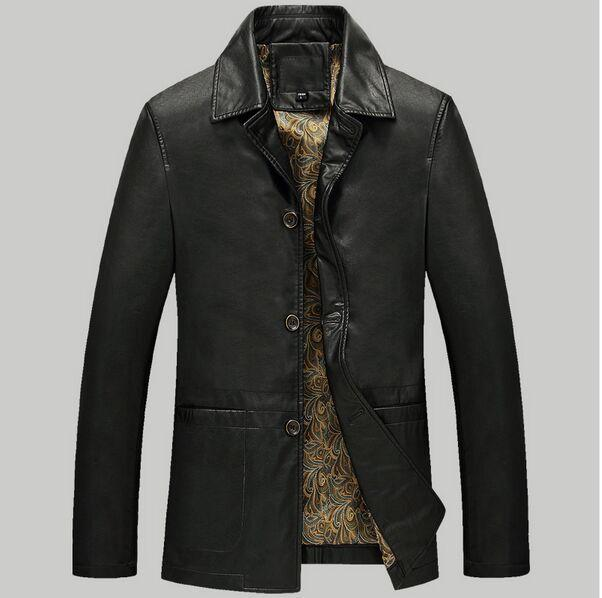 26602b283df 2019 TOP 2016 PU Leather Jacket Men Brands High Quality Velvet Warm Winter  Motorcycle Business Casual Mens Leather Jackets Coats