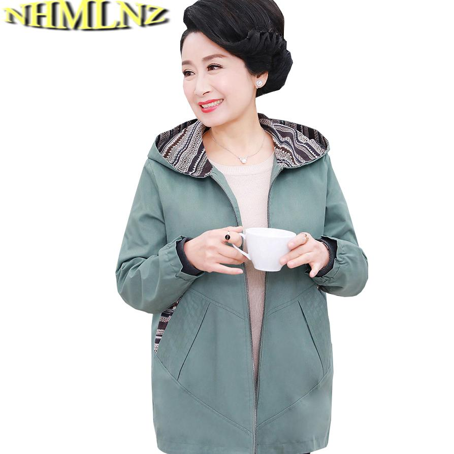 0f96e94b23863 2018 Spring Autumn New Outerwear Women Fashion Plus Size Hooded ...