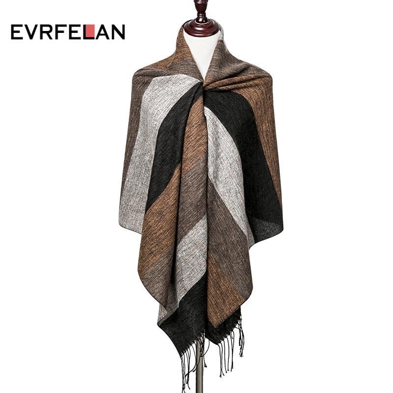 Schal Designen   Grosshandel Evrfelan 2018 Neue Design Winter Schal Frauen Manner
