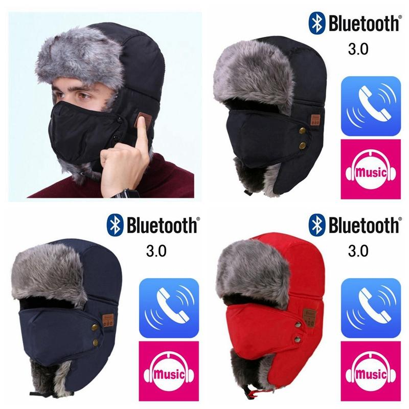 5d911d12b2926 2019 Autumn Winter Wireless Bluetooth Smart Cap Headset Headphone Speaker  Mic Bluetooth Hat Warm Beanie Hat MMA771 From Shuaijinjin china