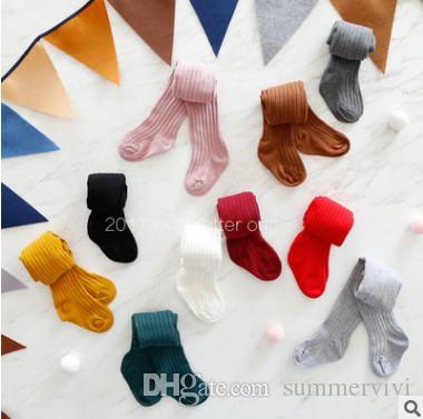 345ad7c4d4 Spring Baby Pantyhose Girls Vertical Stripe Leggings INS Kids Candy ...